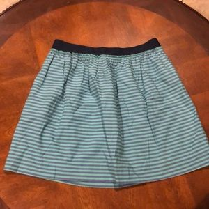 J Crew Striped Lined Stretch Skirt Size 4